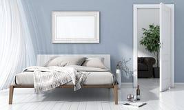 Современный яркий интерьер 3d представляют Стоковые Изображения