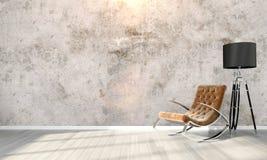 Современный яркий интерьер 3d представляют Стоковое Фото