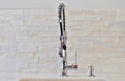 Современный faucet кухни Стоковые Изображения RF