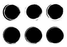 Современный grunge штемпелюет собрание шаблонов формы круга значков Gr иллюстрация вектора