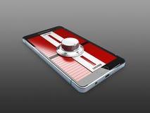 Современный smartphone с padlock замка комбинации иллюстрация 3d Стоковое Изображение RF