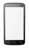 Современный smartphone экрана касания изолированный на белизне стоковое фото rf