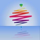 Современный whirligig цвета, на абстрактной предпосылке Стоковое фото RF