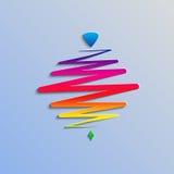 Современный whirligig цвета, на абстрактной предпосылке Стоковое Изображение RF
