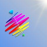 Современный whirligig цвета, на абстрактной предпосылке Стоковая Фотография RF
