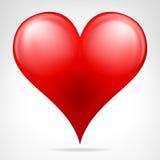Современным красным вектор сердца изолированный значком Стоковая Фотография