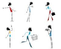 6 современных девушек Стоковые Изображения