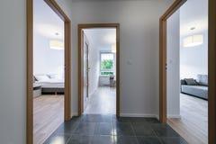 3 современных комнаты простых дизайна Стоковое Фото
