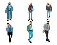 6 современных мусульманских людей Стоковое Фото
