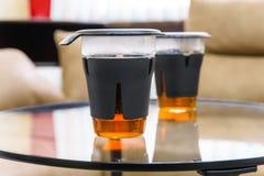 2 современных стекла чая Стоковые Изображения RF