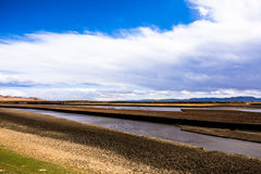 согните первый желтый цвет реки Стоковые Фото