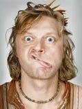 согнутый человек губ Стоковые Фотографии RF
