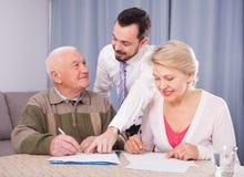 Согласование подписания пар Стоковое Изображение