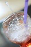 сода красного цвета льда коктеила Стоковые Фотографии RF
