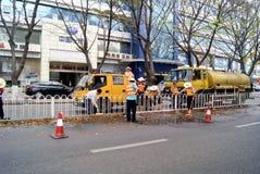 содержание автомобильной дороги shenzhen чистки фарфора Стоковое Фото