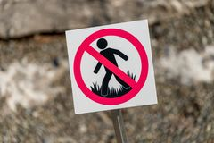 Содержание знака травы Стоковое Фото