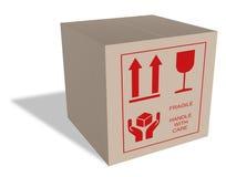 содержание картона коробки утлое Стоковая Фотография