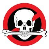 содержимый свободный противозаконный пиратствованный знак Стоковая Фотография