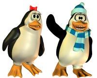 содружественный пожененный пингвин Стоковое Изображение RF
