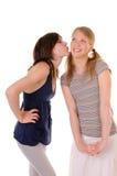 содружественный поцелуй стоковая фотография rf