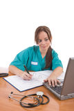 содружественный работник медицинского соревнования Стоковое фото RF