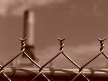 соединение загородки колючек цепное стоковая фотография rf