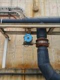 Соединение и модулирующая лампа трубы HDPE Стоковое Изображение