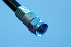 соединение кабеля коаксиальное Стоковое Фото