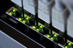 соединение локальных сетей гигабита Стоковое Фото