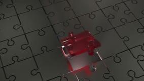Соединение отсутствующей части головоломки владение домашнего ключа принципиальной схемы дела золотистое достигая небо к иллюстрация штока