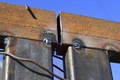 Соединение путем сваривать труб квадрата металла Стоковое фото RF