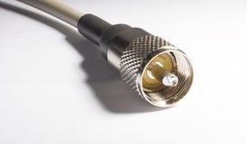 Соединение радио CB к антенне Стоковая Фотография RF