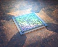 Соединение технологии микросхемы иллюстрация вектора