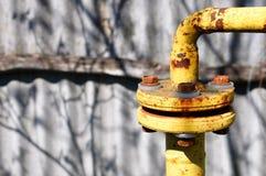 Соединение трубы газа трубопровод стоковое фото