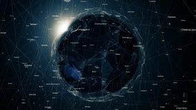 Соединения глобальной вычислительной сети вокруг земли, 4k бесплатная иллюстрация