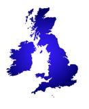 соединенная карта королевства Стоковое Изображение RF