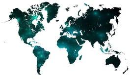 соединенная карта над белизной Стоковые Изображения RF