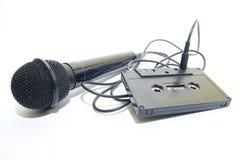 соединенная лента микрофона к стоковые фото