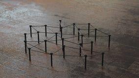 Соединенная схематическая сыгранность Сеть, сеть, соединяется перевод 3d Соединенная схематическая сыгранность стоковые фото