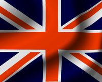 соединенное королевство флага Стоковое фото RF