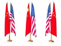 соединенное положение флагов фарфора Стоковые Изображения RF