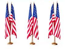 соединенное положение флагов Стоковые Изображения