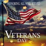 соединенные государства флага Концепция дня ветеранов Стоковое фото RF