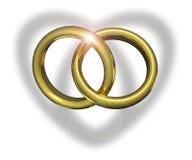 соединенные кольца wedding Стоковое Изображение RF