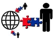 соединенные люди через сеть Стоковое фото RF