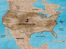соединенные положения карты Стоковое Изображение