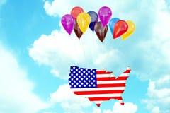 соединенные положения летания америки Стоковое Изображение