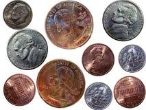 соединенные положения монеток Стоковые Изображения
