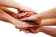соединенные руки стоковая фотография rf