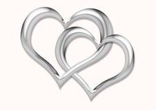 соединенные сердца Стоковое Изображение